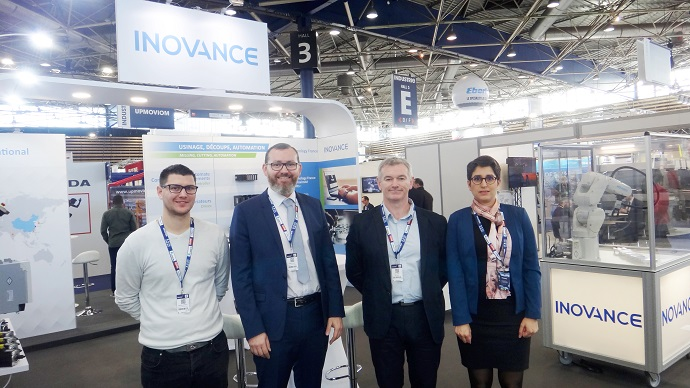 Inovance presents Power Automation CNC real-time machine control solution at the Global Industrie show, Lyon